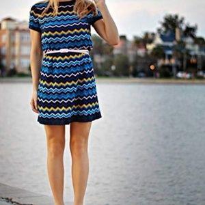 Missoni for Target Blue Chevron Dress Size Med